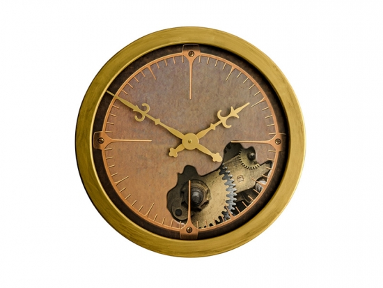 18 Inches Metal Rimmed Wall Clock